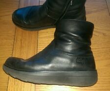FitFlop Zip Wedge 100% Leather Boots for Women