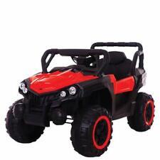 Auto elettrica per bambini jeep 12V rossa con telecomando fuoristrada SUV quad
