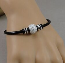 Volleyball Bracelet - Womens Volleyball Charm Bracelet - Sports Gift Jewelry NEW