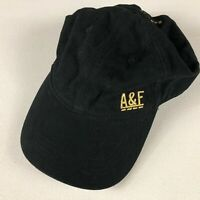 Abercrombie & Fitch Strapback Hat Womens Dare To Win Cap One Size Black Gold AF