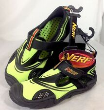 NEW NERF Child Athletic Water Shoes Youth Size 11 / 12 S Small Neon Green Sport