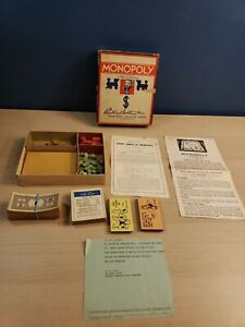 Vintage Monopoly Game No Board replacement pieces - 1961 US Air Force Gift?