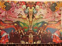 Vintage Peter Max Abstract Psychedelic Dreamer Pop Art Fantasy Poster Santa Cats