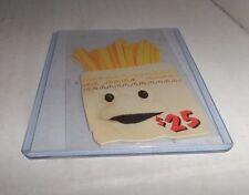 $25 McDonald's Scoreboard Phone Card  Phonecard Die Cut Fries TEST CARD 11 of 11