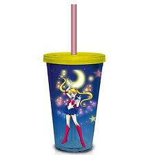 Sailor Moon Quarter Moon Carnival 18 oz. Travel Cup with Straw!