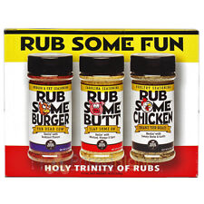 BBQ Spot Barbecue Rub Some Burger Butt Chicken Seasoning Spices 3 Pack Gift Set