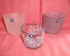Leonardo, 3 verschiedene Teelichthalter Windlicht Glas Rauchglas neu