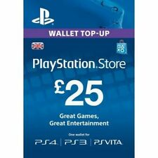 PS4-Playstation Network Card ?25 (In Paperform) (PS3 / VITA / PS4) /PS4 NEW