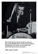 Buddy Rich **LARGE POSTER** Slingerland Drums ad DRUM MASTER Big Band Jazz Swing