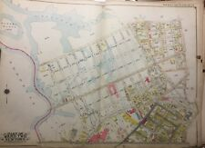 ORIGINAL 1915 E. BELCHER HYDE MASPETH, QUEENS MUSSEL ISLAND NY PLA ATLAS MAP