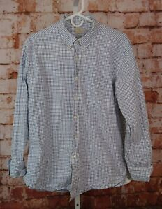 J. Crew 2- Ply 100% Cotton Button Front Shirt Sz L 16 - 16.5