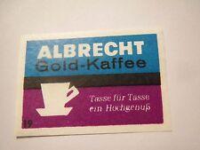 Albrecht Aldi-Markt - Albrecht Kaffee Gold / Streichholzetikett