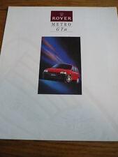 Rover Metro Gta folleto Jm