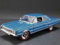 ACME 1:18 1967 Dodge Coronet R/T Diecast Model Car Blue A1806601