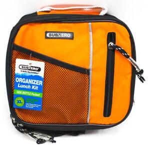 NEW SubZero Organizer Work  Beach Lunch Kit Side Bottle Pocket Blue Orange Pink