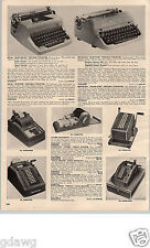1955 PAPER AD 2 PG Royal Remington Underwood Smith Corona Typewriter Deluxe