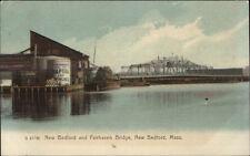 New Bedford MA Bridge & Adv Sign For Standard Oil Co Naptha Adv on Tank PC