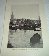 1919 ANTWERP BELGIUM FROM THE HARBOR Photographic Print
