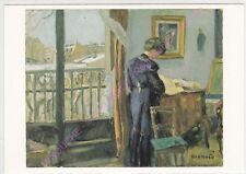 CP ART TABLEAU BONNARD PIERRE Jour d hiver femme dans un intérieur