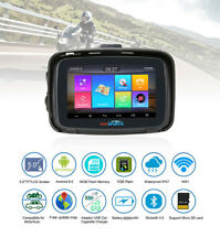 "5"" Motorcycle GPS Navigator Car Android Touch Moto Bluetooth Navigation NAV Map"