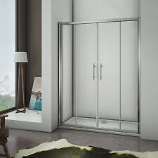 Porte de douche coulissante 120x185cm porte de douche verre clair trempé sécurit