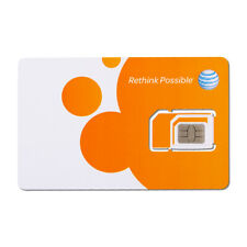 10 Pack At&T Triple Cut Sim Card - Inactivated [1 Count]