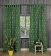 Ethnic Floral Print Cotton Drapes Curtains Window Valance Tab Top Wall Tapestry