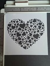 Heart in heart Stencil Scrapbooking Card Making Airbrush Painting Home Decor Art