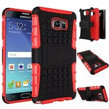 Red Strong Tradesman Dual Layer Tough Case Cover Stand for Samsung Galaxy Note 5