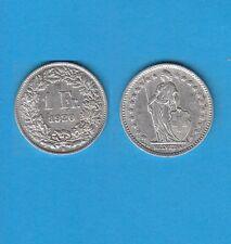 § Suisse Swiss Confédération Helvétique 1 Franc en argent 1920 Exemplaire N° 2