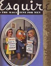 1938 Esquire July- Emil Ganso art; Ann Sheridan; Grizzlies; China;Fortune Teller