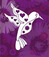 Pick Your Color Vinyl Car Window Cutout Groovy Butterfly with Heart Cutouts