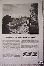 NATIONAL DAIRY ICE CREAM U.S. ARMY WWII ADS 1945