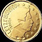 LUXEMBOURG - pièce de 20 cts d' euro 2002 - TTB