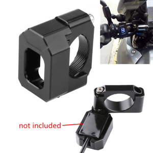 Universal Black CNC Motorcycle Handlebar Gear Speed Indicator Mount Holder Guard