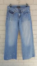 Golf Punk Wide Leg Jeans Size AU 9 US 5 EUR 37 Blue Denim Distressed