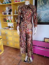 Vtg 70s Mod Psychedelic Lounge Palazzo Pants Jumpsuit I Appel Playsuit Dress S/M