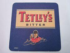 Beer Coaster Bar Pub Mat: TETLEY Bitter ~ Brewed by Carlsberg England Brewery