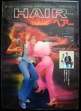 HAIR Japanese B2 movie poster MILOS FORMAN BOB PEAK 1979 NM