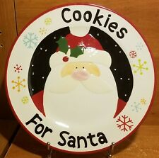 """Oneida CHRISTMAS CUT-OUTS COOKIES FOR SANTA platter(s)12 1/4"""" Sue Zulauf New NWT"""