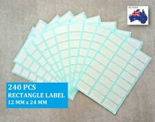 240 Pcs Blank Sticker Label Rectangle Self Adhesive  White 12mm x 24mm