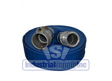 """2"""" x 50ft Blue Water Discharge Hose Camlocks w/ FREE SHIPPING"""