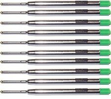 10 Parker Style Ballpoint Pen Refills, Smooth Flow Ink, Green Medium, Jotter