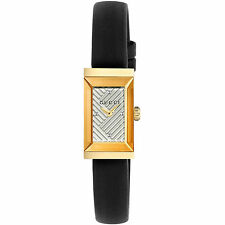 New Gucci G-Frame Gold-Tone Leather Strap Ladies Watch YA147506
