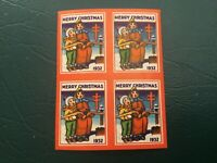 ICOLLECTZONE US 1932 Christmas Seal Imperf block EFO