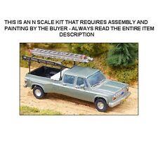CHEVROLET CREW CAB PICKUP TRUCK w/ACCESSORIES KIT - N SCALE KIT - GHQ 51008