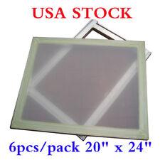 "USA Stock 6 pcs 20"" x 24"" Aluminum Frame Printing Screens with 160 Mesh"