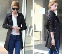 Hot Casual Long Coat Double Breasted Belt Slim Women's Spring  Fit Trench Jacket