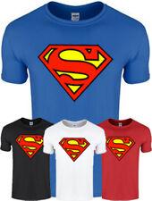 Mens Boys SUPERMAN T Shirt Man of Steel Superhero Cotton Tee Top S - 5XL