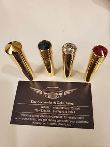 24kt Gold Toggle Switch Extensions w/ Crystal Top (sold individually)
